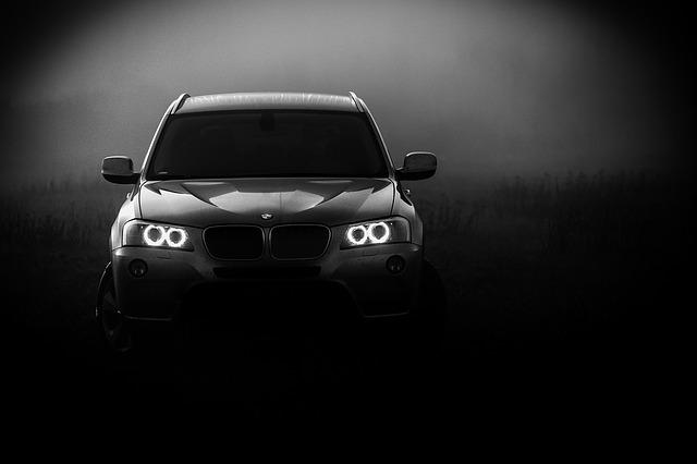 mørk bilrude