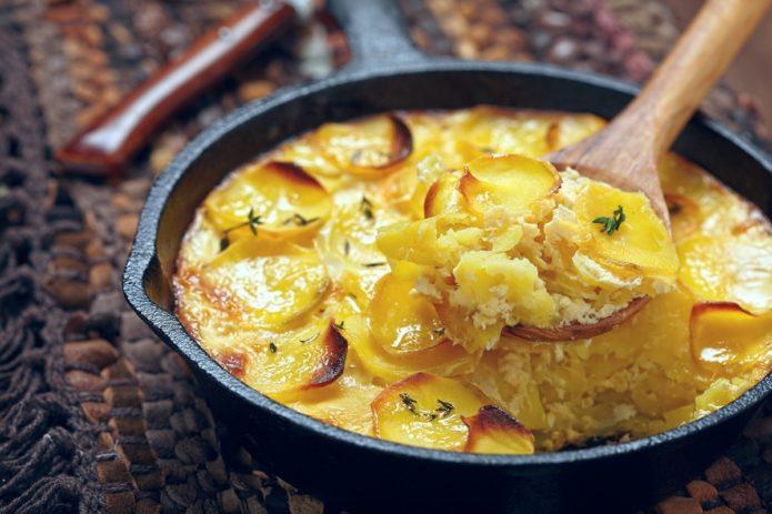 Lækre Flødekartofler lavet i pande
